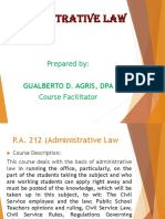 Introductory Lecture to Administrative Law