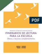 Intensidad y Altura de La Literatura Itinerarios de Lectura Para La Escuela Obras y Recursos Complementarios 1