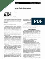 Behavior of Dowels Under Cyclic Deformations