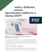 SRS for Startup MVP