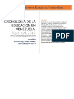 Cronología histórica de la educación en Venezuela
