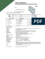 Current Transducer Catalogue