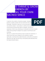 How to Thrive & Grow as an Empath by Creating Your Own Sacred Space