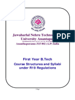 First Year B.tech Course Structures Syllabi Effective From 2019 20