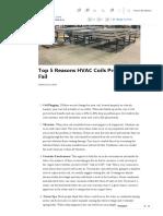 Top 5 Reasons HVAC Coils Prematurely Fail