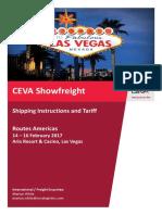Ceva Shipping Instructions and Tariff