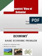 ECONOMIST VIEW OF BEHAVIOUR