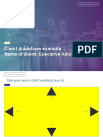 Executive Advisors Guidelines