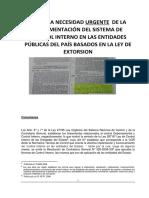 Formato en Base a La Ley de Extorcion 20 Años