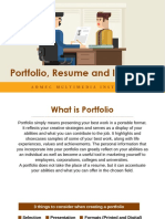 Workshop on Resume, Portfolio, Interview