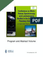 Conferência Sobre Espectroscopia Raman