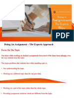 Doing Assignment Expert Way (www.myassignmenthelp.com)