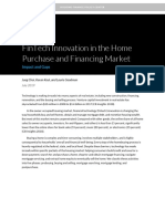 Fintech Innovation in the Home Purchase and Financing Market 0