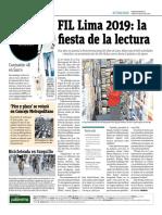 FIL Lima 2019, La Fiesta de La Lectura