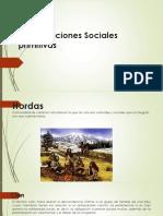 Organizaciones Sociales primitivas