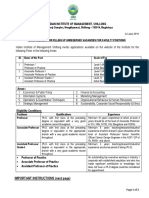 Advertisement for Faculty Position Unreserved Category June 2019 1