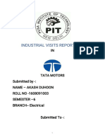 Summer Training Report  on electrical engineering TATA Motors