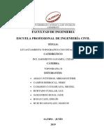 Informe de Levantamiento Topografico Estacion Total