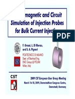 Electromagnetic and Circuit Simulation of Injection Probes for Bulk Current Injection