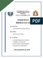 INFORME MAQUINAS HIDRAULICAS