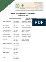Activities, Assignment & Committee