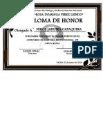 Diplomas de Concursos