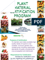Plant Material Certification Schemes
