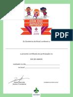 Dia Do Amigo Certificado Participante 1