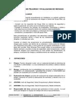 Procedimiento de Identificación de Peligros y Evaluacion de Riesgos