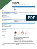 Hydrogen Sulfide SDS