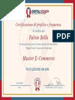 F. Bello Certificato di Profitto e Frequenza