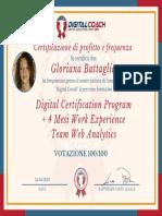 G. Battaglia Certificato di Profitto e Frequenza