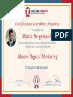 M. Bergamaschi Certificato di Profitto e Frequenza