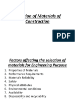 Selection of Materials of Construction