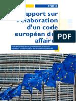 Rapport sur le code européen des affaires