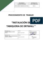 7 PT 001 - Colocación de Drywall
