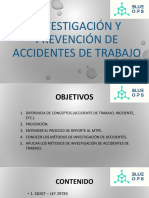Investigación y Prevención de Accidentes de Trabajo