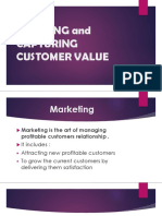Craeting and Capturing Customer Value