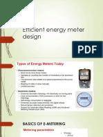 Efficient Energy Meter Design