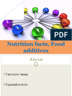 Food Additive and Nutrition Fact