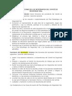 Roles y Funciones de Los Integrantes Del Comité de Seguridad Vial
