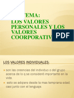 VALORES  INDICIDUALES  Y INTELECTUAELS
