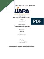 Tarea 2 Educacion Para La Diversidad Yessenia Payano