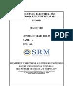 18EES101J Basic Electrical Engineering Eee