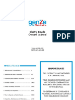 Manual Biicleta Elctrica genze