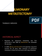 Current Role of Pulmonary Metastectomy