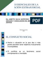 ASPECTOS ESENCIALES DE LA CONCILIACIÓN EXTRAJUDICIAL