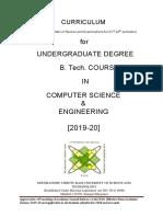 btech 2nd year syllabus 2019-20
