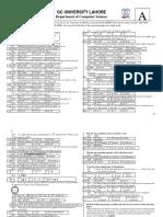 BS(CS) Sample Question Paper