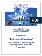 Evidencia 4.1 Business Meeting Workshop